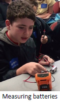 Measuring batteries